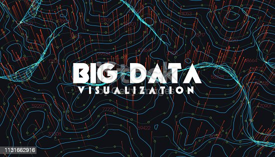 istock Big data visualization. Trendy infographic background. Data analysis presentation. 1131662916
