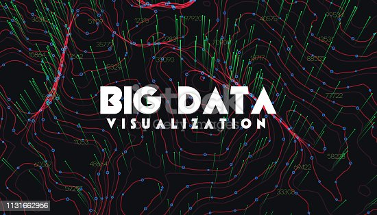 istock Big data visualization. Trendy infographic background. Data analysis presentation. 1131662956