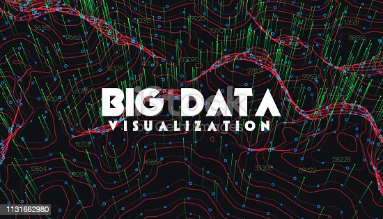 istock Big data visualization. Trendy infographic background. Data analysis presentation. 1131662980