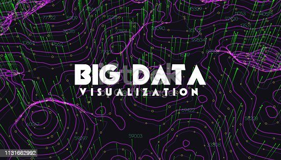 istock Big data visualization. Trendy infographic background. Data analysis presentation. 1131662992