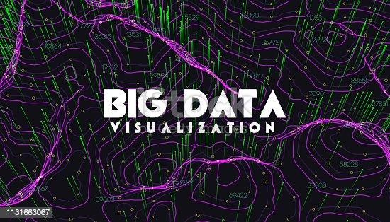 istock Big data visualization. Trendy infographic background. Data analysis presentation. 1131663067