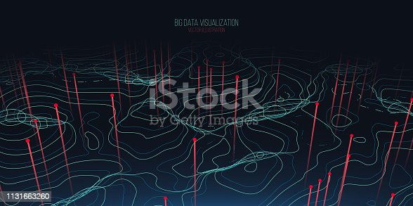 istock Big data visualization. Trendy infographic background. Data analysis presentation. 1131663260
