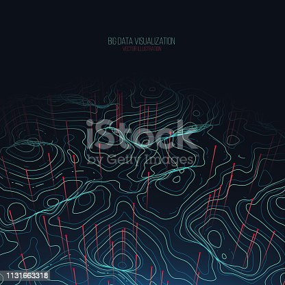 istock Big data visualization. Trendy infographic background. Data analysis presentation. 1131663318