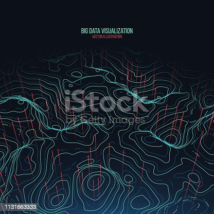 istock Big data visualization. Trendy infographic background. Data analysis presentation. 1131663333