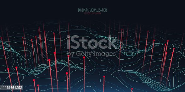 istock Big data visualization. Trendy infographic background. Data analysis presentation. 1131664252