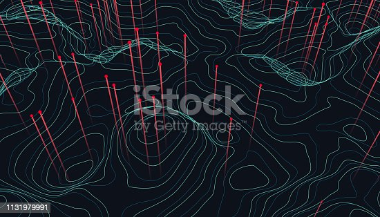 istock Big data visualization. Trendy infographic background. Data analysis presentation. 1131979991