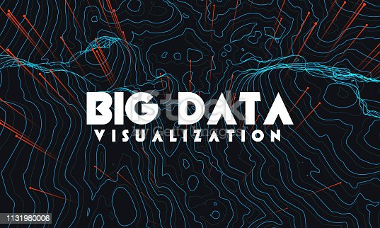 istock Big data visualization. Trendy infographic background. Data analysis presentation. 1131980006