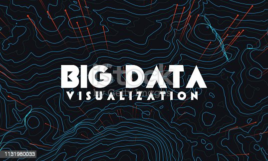 istock Big data visualization. Trendy infographic background. Data analysis presentation. 1131980033
