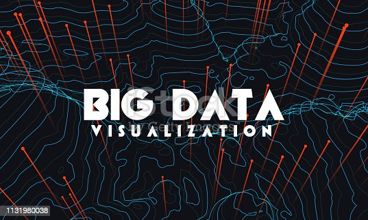 istock Big data visualization. Trendy infographic background. Data analysis presentation. 1131980038