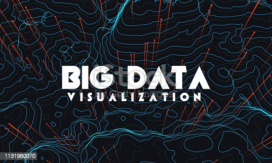 istock Big data visualization. Trendy infographic background. Data analysis presentation. 1131980070