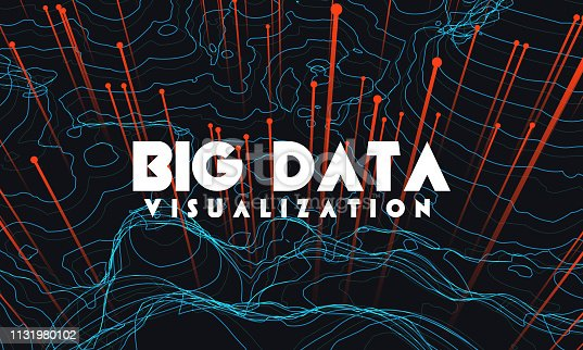 istock Big data visualization. Trendy infographic background. Data analysis presentation. 1131980102