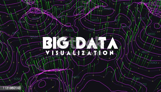 istock Big data visualization. Trendy infographic background. Data analysis presentation. 1131980143