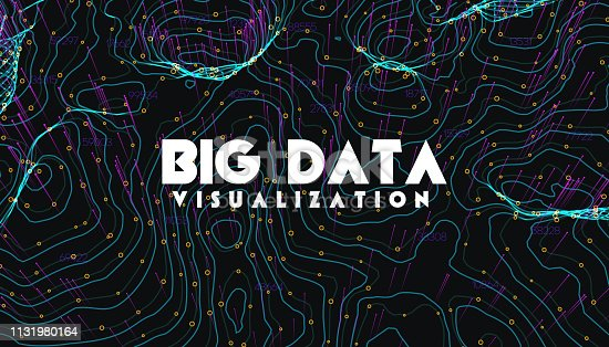 istock Big data visualization. Trendy infographic background. Data analysis presentation. 1131980164