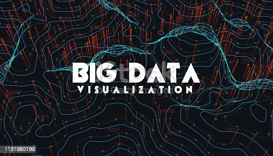istock Big data visualization. Trendy infographic background. Data analysis presentation. 1131980199