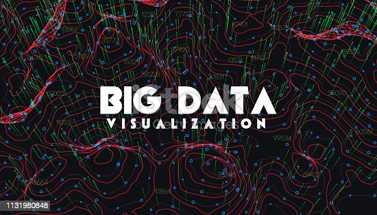 istock Big data visualization. Trendy infographic background. Data analysis presentation. 1131980848