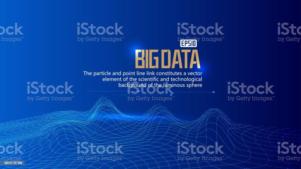 Big Data Visualization Vector Abstract 3d Network Background Visual