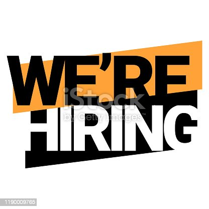 We're hiring. An ad for an advertising campaign at retail on the day of purchase. vector illustration