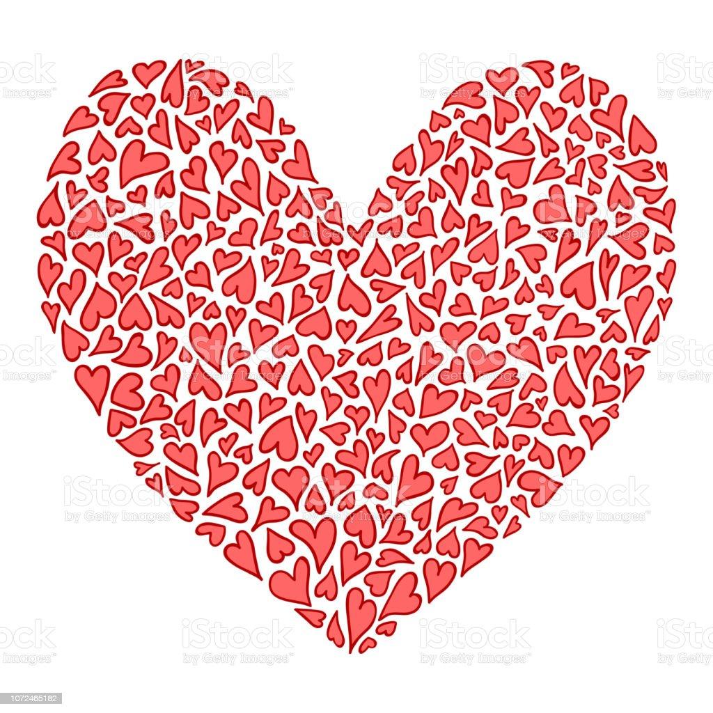 7e9f3fc523f624 Vetores de Grande Coração Decorativa Com Grande Coração Dia Dos ...