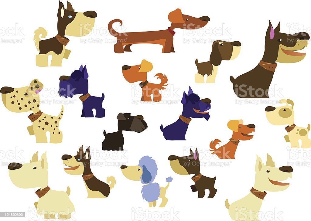 Big Dogs Collection royalty-free stock vector art