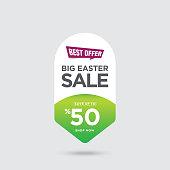 Big Easter Sale banner stock illustration