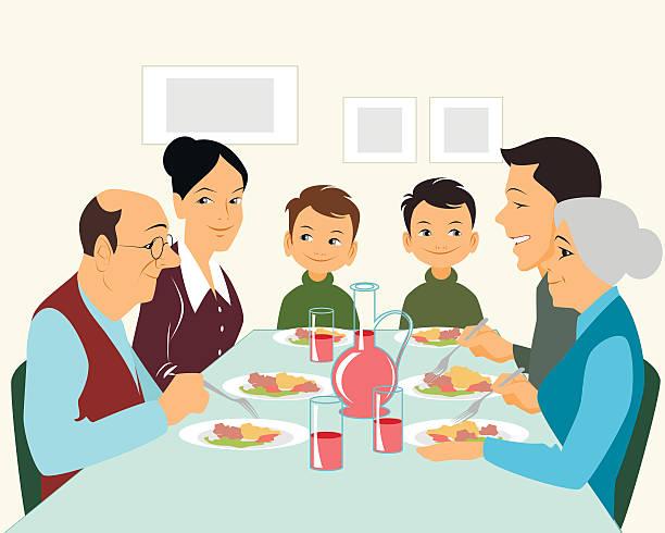 Best Family Eating Breakfast Illustrations, Royalty-Free ...