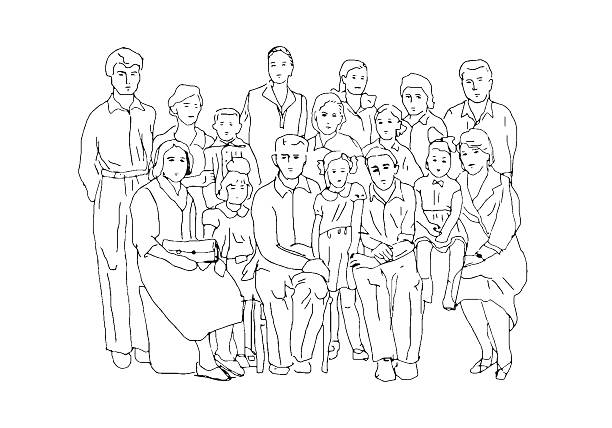 Top 60 Large Family Clip Art Vector Graphics And Illustrations Istock