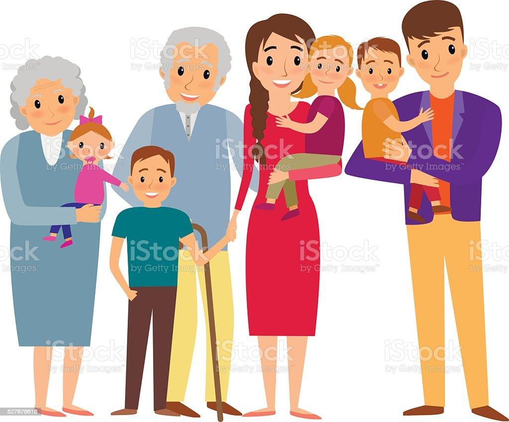 대가족 인물사진 가족에 대한 스톡 벡터 아트 및 기타 이미지 - iStock (1024 x 849 Pixel)
