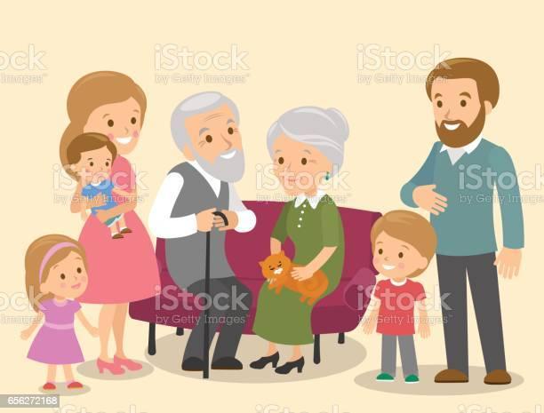 Big family with grandparents three children vector id656272168?b=1&k=6&m=656272168&s=612x612&h=dgn9pybmz9kn6udpmym3yysilpf9h6jyr5o aqjmoww=
