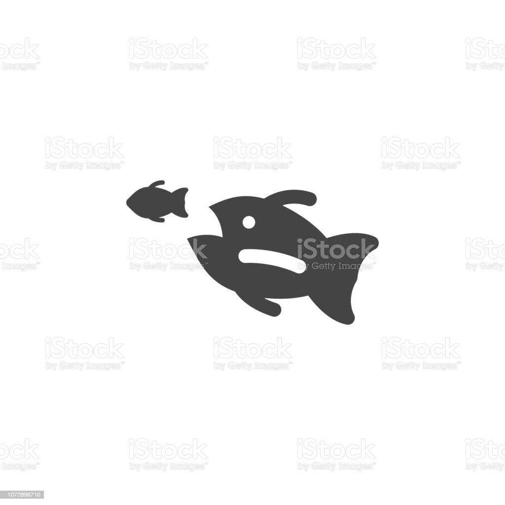 big fish, small fish icon. Element of business plannin icon. Glyph icon for website design and development, app development. Premium icon vector art illustration