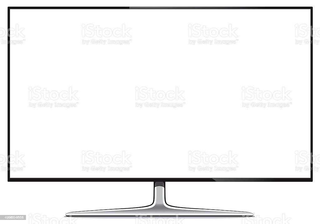 大型のフラットスクリーン tv セットイラストレーション 3dのベクター