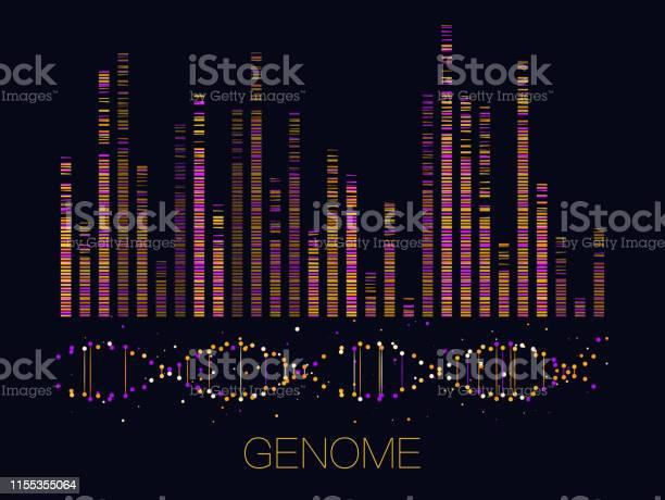 Big Genomic Data Visualization Stock Illustration - Download Image Now