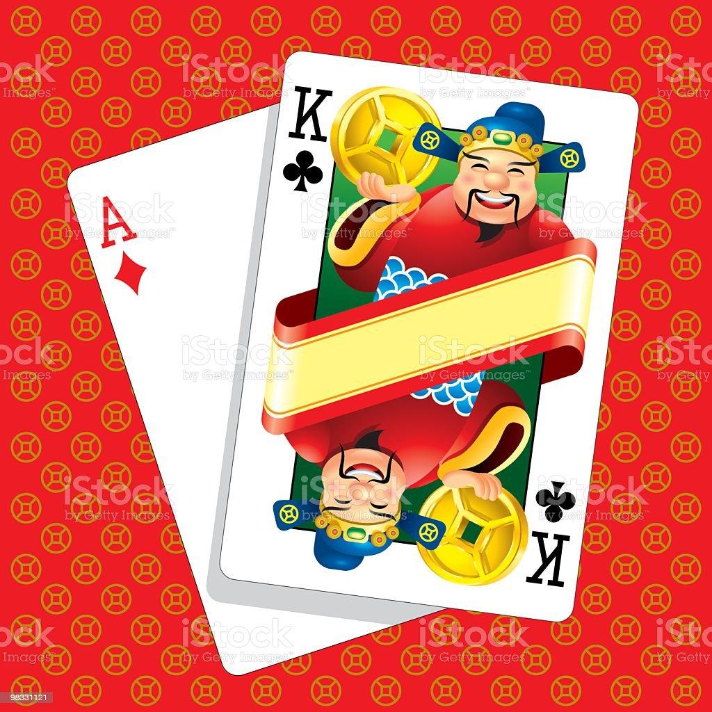 Grande moneta d'oro di Poker grande moneta doro di poker - immagini vettoriali stock e altre immagini di asso royalty-free