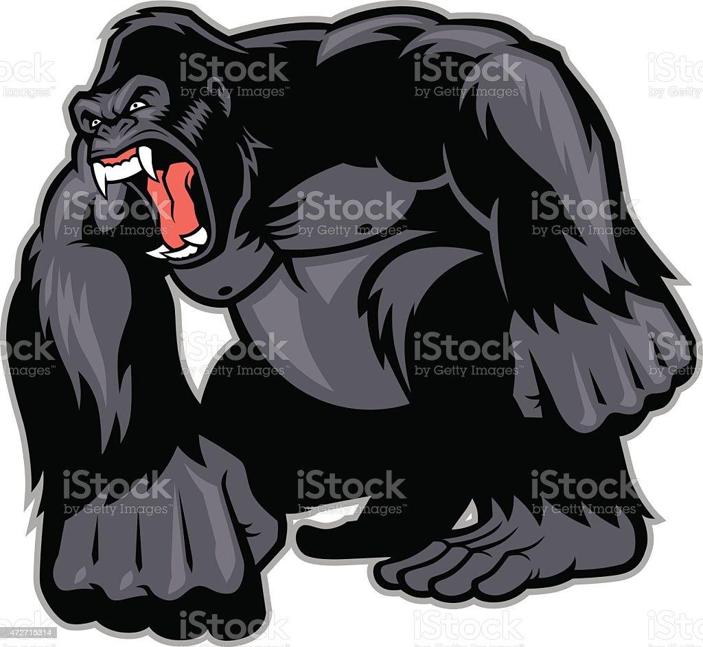 Big Gorilla mascot royalty-free big gorilla mascot stock illustration - download image now
