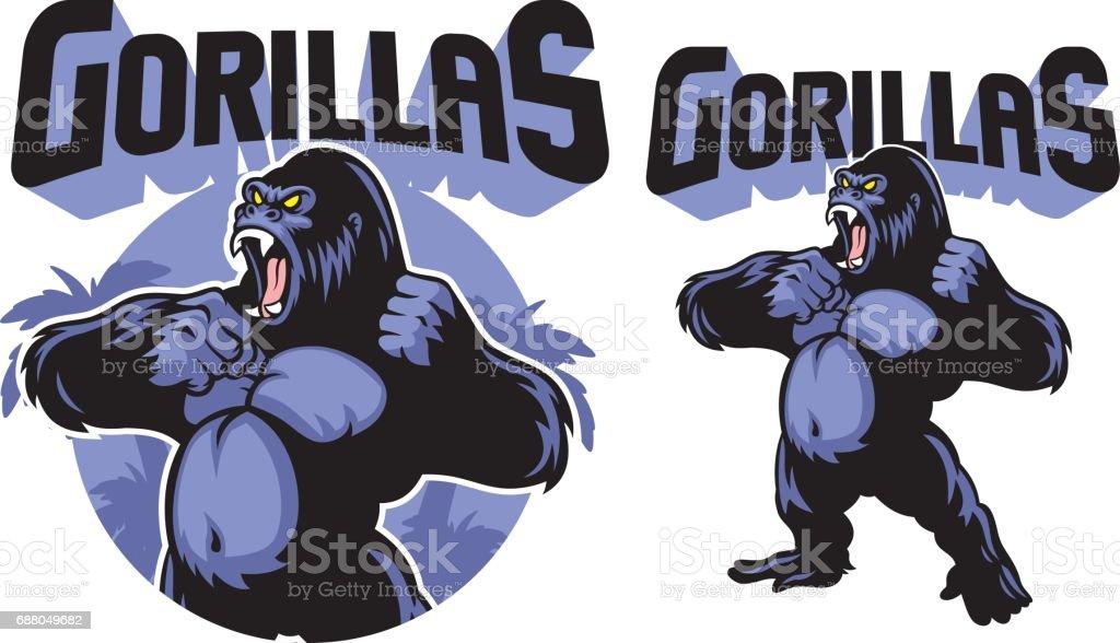 Big gorila mascot - ilustración de arte vectorial
