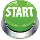Big green start button illustration. Layered and grouped. Download includes EPS 10 and hi-res jpeg files.