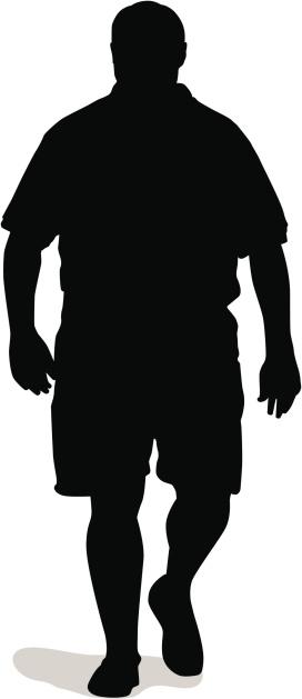 Big Guy Silhouette (vector)