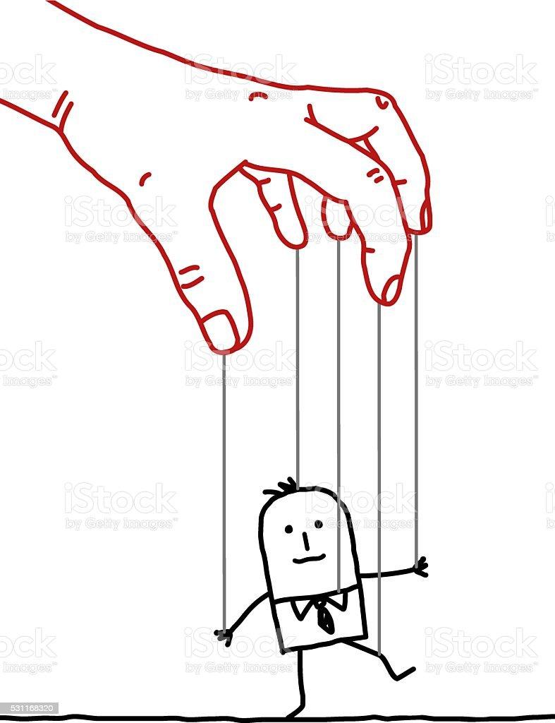 00eb91eef5fc Ilustración de Grandes Mano De Hombre De Negocios Y De ...