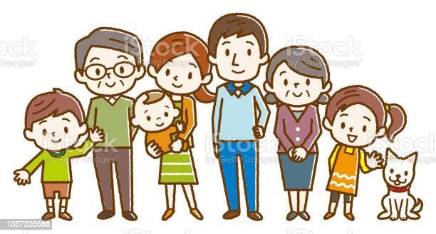 Big happy family vector illustration vector id1057205588?b=1&k=6&m=1057205588&s=612x612&h=makujigznomjjwxvpzs0w0uefng8xurlpjm7f3xsshe=