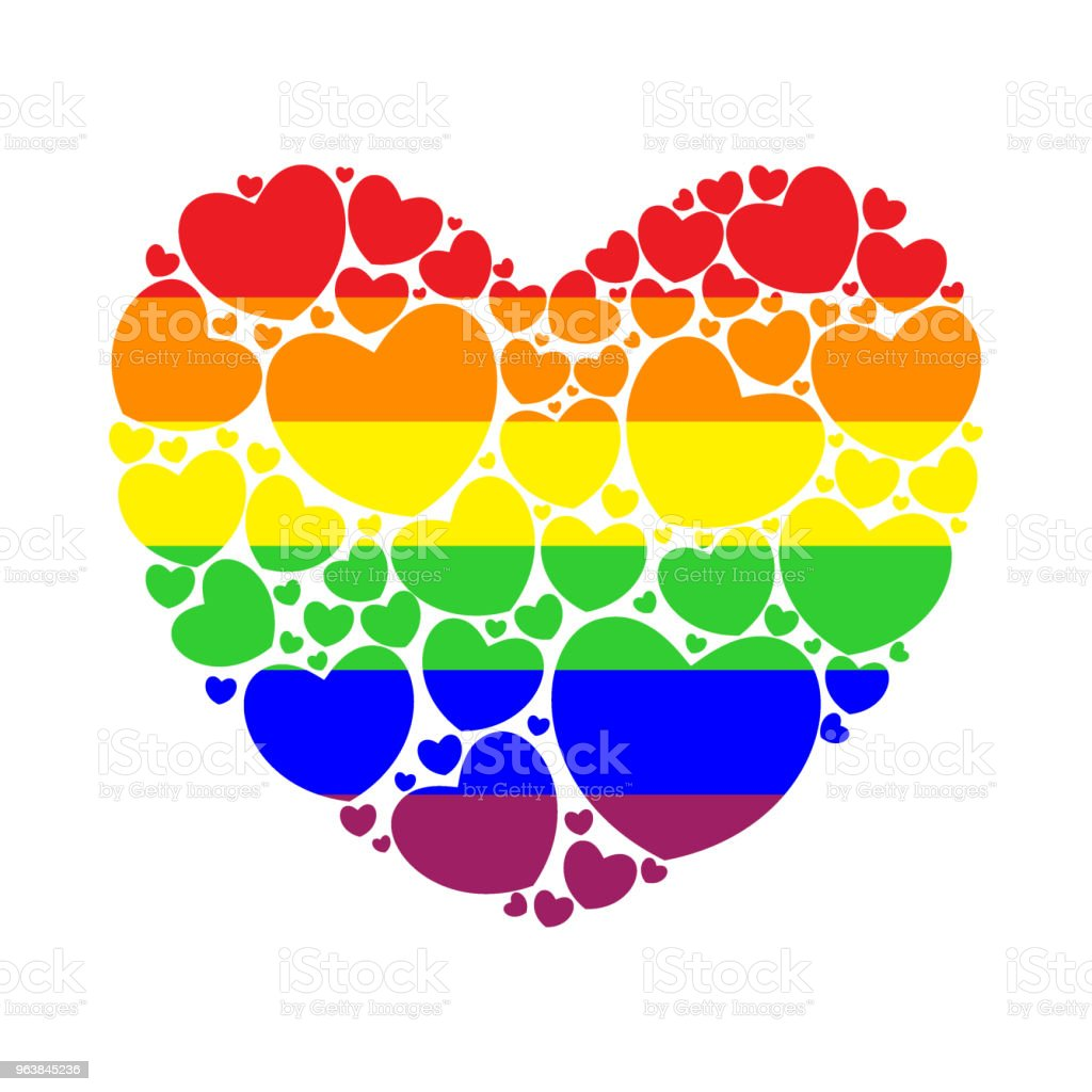 Big heart filled with small hearts. - Royalty-free Bisexuality stock vector
