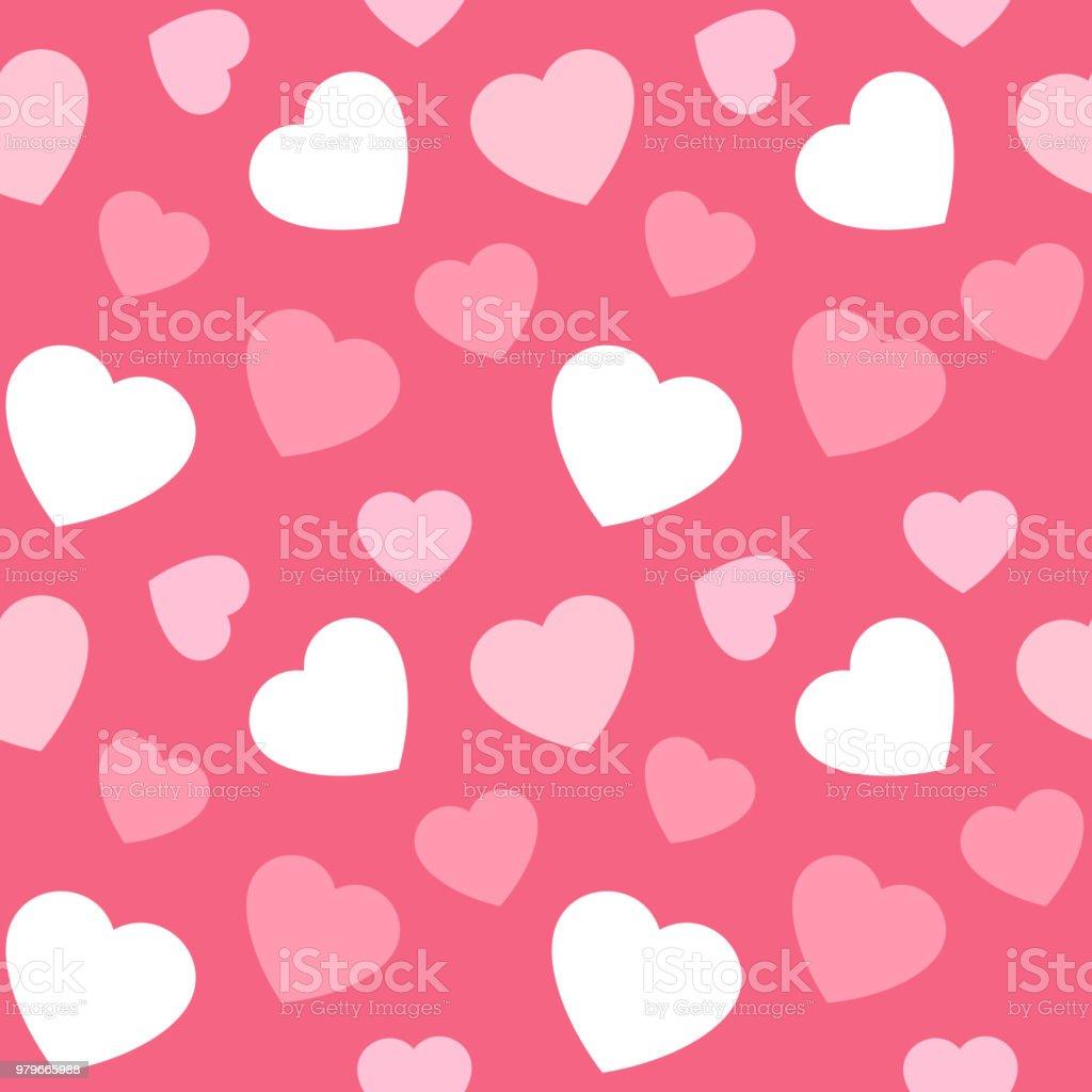 Big heart random seamless pattern vector art illustration