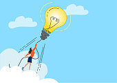 istock Big Idea. Light bulb rocket.Creativity Concept. 1220338831