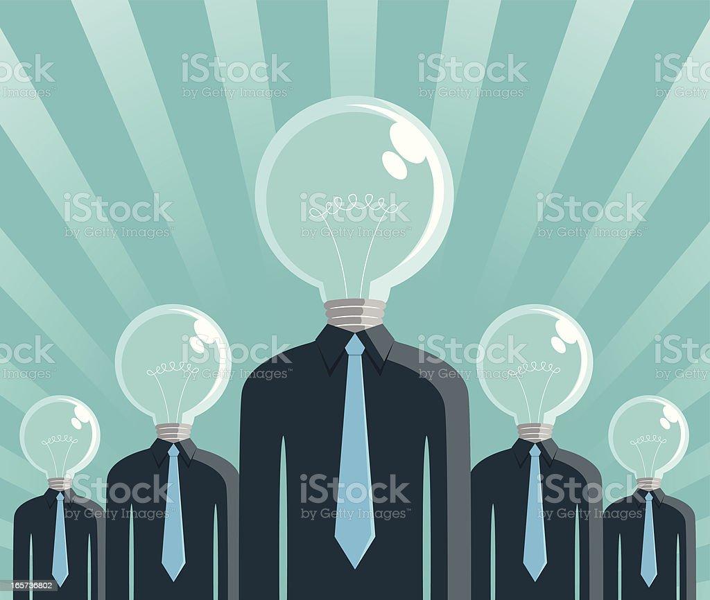 Big Idea Men Vector illustration – Big Idea Men.  Adult stock vector