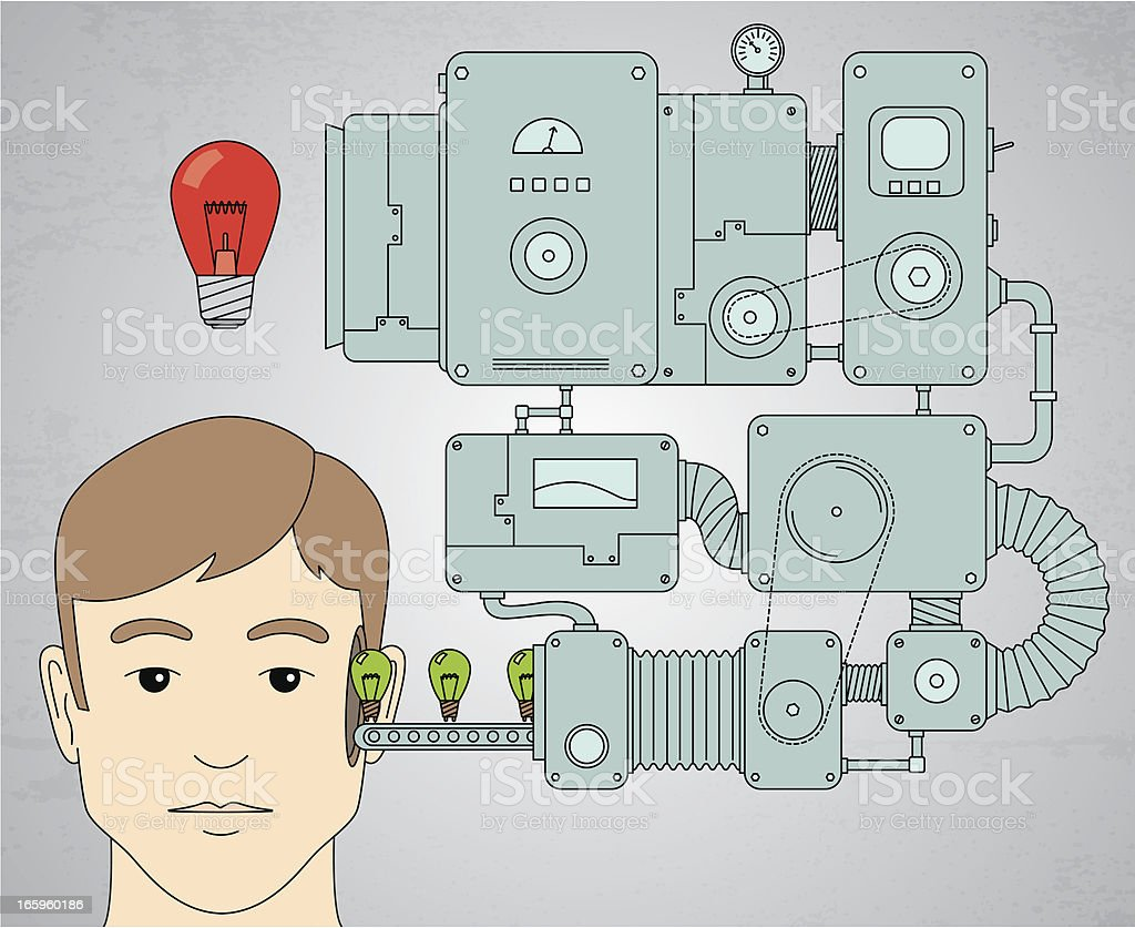 Big idea vector art illustration
