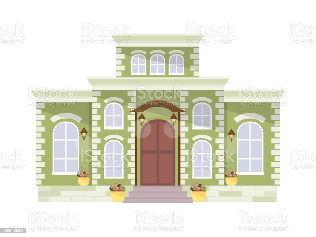 Big mansion vector - Royalty-free Apartment stock vector