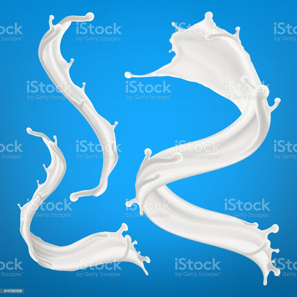 Big milk splash three dimentional vector realistic illustration vector art illustration