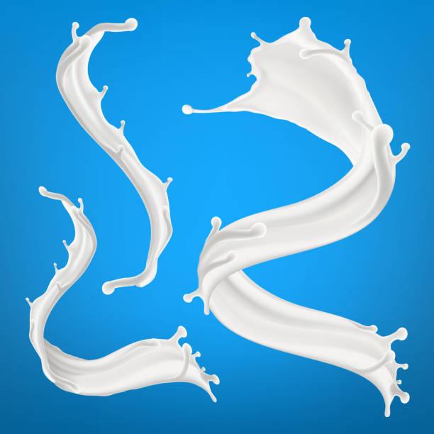 Big milk splash three dimentional vector realistic illustration vector art illustration