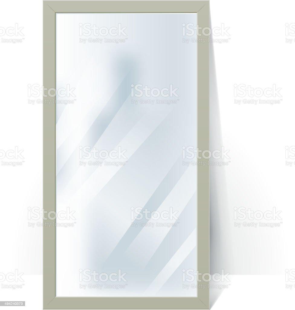 Ilustración de Gran Espejo Con Reflexión Borroso En La Pared ...
