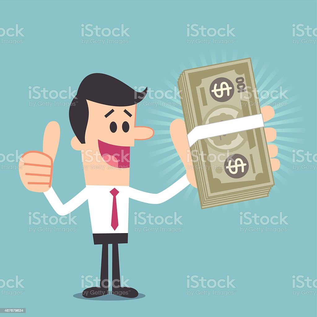 Big money vector art illustration