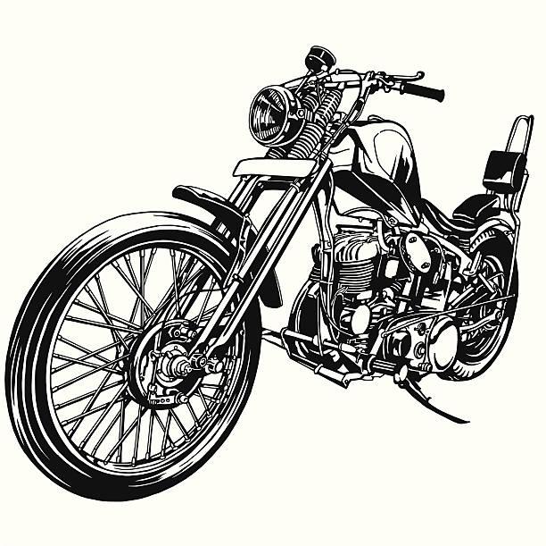 ビッグモーターサイクル - オートバイ点のイラスト素材/クリップアート素材/マンガ素材/アイコン素材