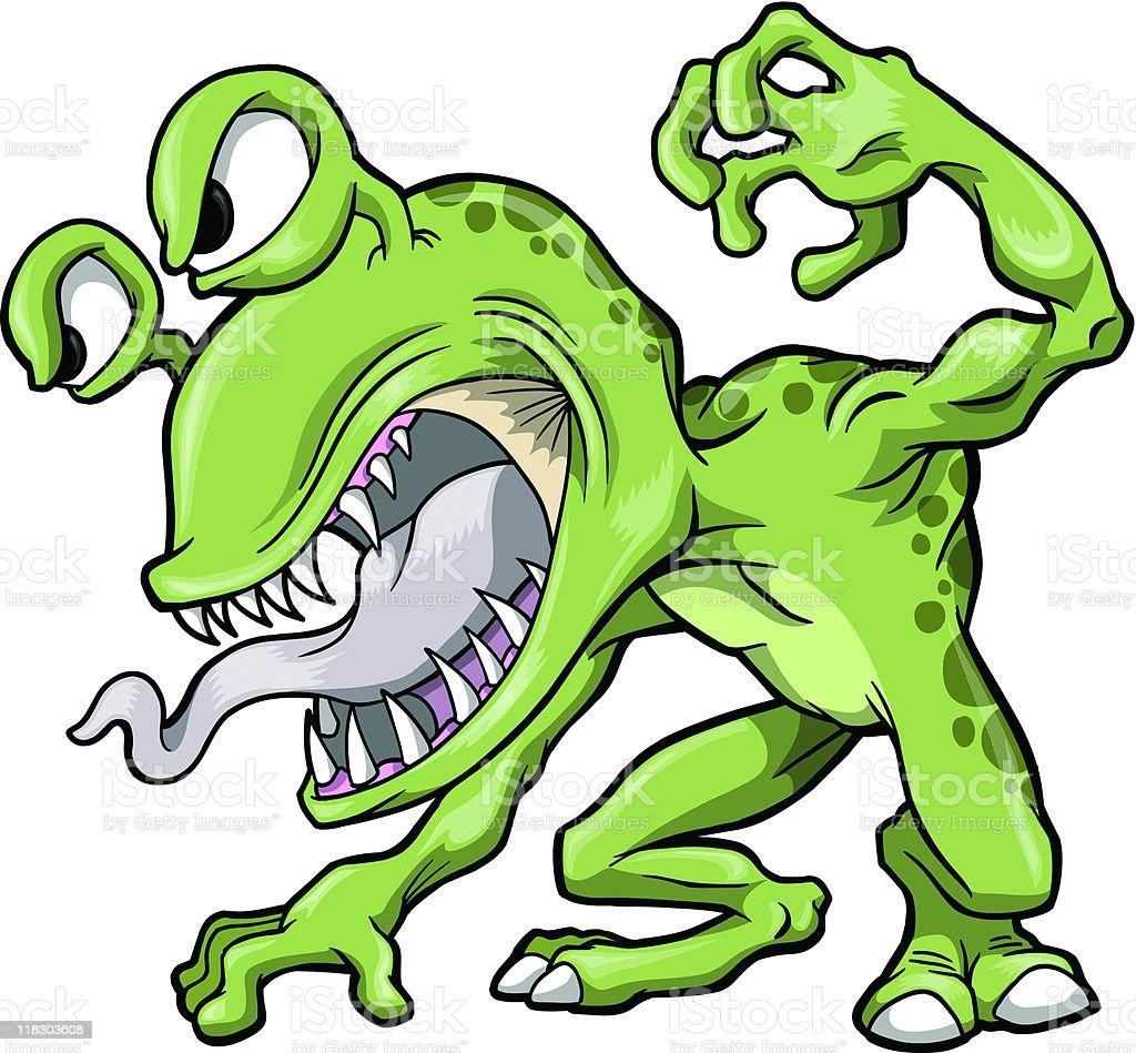 Big Nasty Green Monster royalty-free big nasty green monster stock vector art & more images of alien